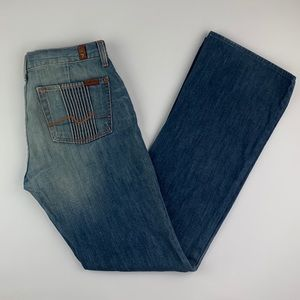 7 For All Mankind 28 Bootcut Flare Jeans 33L USA